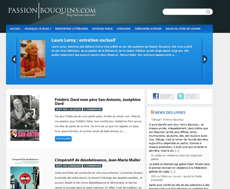 Aux bons blogues 2011 Passiosns-
